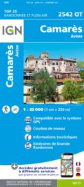 Wandelkaart Camarès - Avène  |  IGN 2542OT - IGN 2542 OT | ISBN 9782758548713