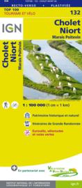 Wegenkaart - Fietskaart Cholet - Niort | IGN 132 | ISBN 9782758543725