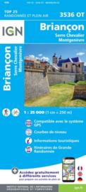 Wandelkaart Briancon, Serre-Chevalier & Montgenevre | Queyras | IGN 3536 OT - IGN 3536OT