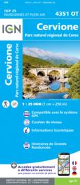Wandelkaart Cervione, San Nicolao, PNR de la Corse| Corsica - IGN 4351OT - IGN 4351 OT