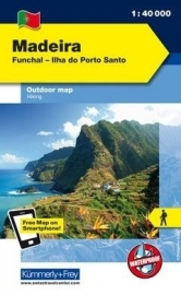 Wandelkaart Madeira | Kümmerley & Frey | 1:40.000 | ISBN 9783259007099