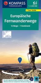 Wandelkaart Europese Langeafstandsroutes | Kompass 2562 | ISBN 9783990448175