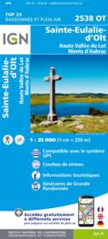 Wandelkaart Ste-Eulalie-d'Olt - Hte Vallée du Lot - Mt d'Aubrac | Cevennen | IGN 2538 OT - IGN 2538OT | ISBN 9782758545385