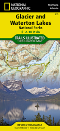 Wandelkaart Glacier and Waterton Lakes National Parks 215 | National Geographic | ISBN 9781566953184