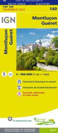 Wegenkaart - fietskaart Montlucon - Gueret | IGN 140 | ISBN 9782758543756