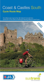 Fietskaart Sustrans | Coast & Castles South | Cycle route map | Edinburgh naar Newcastle |  ISBN 9781910845592