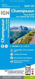 Wandelkaart Champsaur, Vieus Chaillol | NP Ecrins |  IGN 3437 OT - IGN 3437OT | ISBN 9782758543275