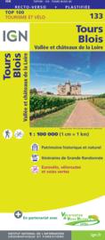 Wegenkaart - Fietskaart Tours - Blois | IGN 133 | ISBN 9782758547563