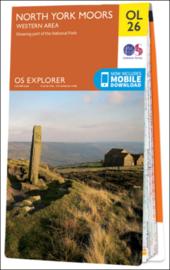 Wandelkaart North York Moors Western Area | OL26 Explorer Maps | Ordnance Survey | 1:25.000 | ISBN 9780319242650