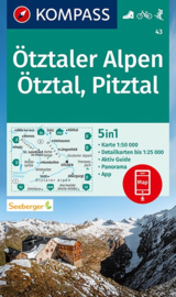 Wandelkaart Ötztaler Alpen - Ötztal - Pitztal | Kompass 43 | 1:50.000 | ISBN 9783990449431
