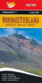 Wegenkaart Nordausturland - noordoostelijk IJsland | Ferdakort nr. 3  | 1:250.000 | ISBN 9789979674238
