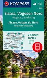 Wandelkaart - Fietskaart Elzas - Vogezen Noord | Kompass 2220 | 1:50.000 | ISBN 9783990447550