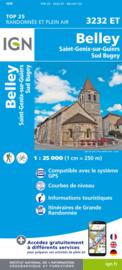Wandelkaart Belley – St-Genix-sur-Guiers – Sud Bugey | IGN 3232ET – IGN 3232 ET
