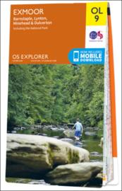 Wandelkaart Exmoor | Ordnance Survey OLM 09 | ISBN 9780319242483