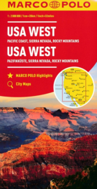 Wegenkaart USA West |  Marco Polo / Mair  | ISBN 9783829739399