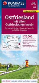 Fietskaart Ostfriesland West - Emden - Aurich |  Kompass 3322 | 1:70.000 | ISBN 9783990448229