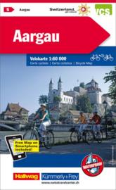 Fietskaart Aargau | Kümmerly+Frey nr. 05 | 1:60.000 | ISBN 9783259024058