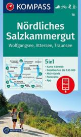 Wandelkaart Nördliches Salzkammergut | Kompass 18 | 1:50.000 | ISBN 9783990444238