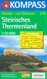 Wandelkaart Steirisches Thermenland | Kompass 216 | 1;50.000 | ISBN 9783854918301