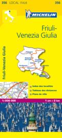 Wegenkaart - Fietskaart Venezia - Friuli - Giulia | Michelin 356 | 1:200.000 | ISBN 9782067127180