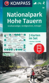 Wandelkaart Hohe Tauern Nationalpark | Kompass 50 | 1:50.000 | ISBN  9783990442661