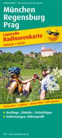 Fietskaart München - Regensburg - Praag | Public Press | ISBN 9783899206012
