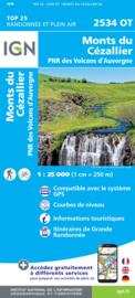 Wandelkaart Monts du Cezallier   PN Volcans D`Auvergne   IGN 2534 OT - IGN 2534OT