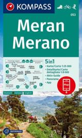 Wandelkaart Meran / Merano | Kompass 053 | 1:25.000 | ISBN 9783990448540