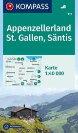 Wandelkaart Appenzellerland - St. Gallen - Säntis | Kompass 112 | 1:50.000 | ISBN 9783850269667