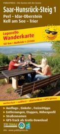 Wandelkaart Saar-Hunsrück Steig 1  : Perl - Idar-Oberstein - Kell am See - Trier | Public Press | ISBN 978389920496