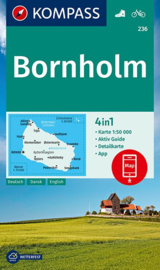 Wandelkaart-Fietskaart Bornholm 236 | Kompass | ISBN  9783990449523