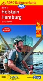 Fietskaart Holstein / Hamburg nr. 2    ADFC Radtourenkarte    1:150.000   ISBN 9783969900765