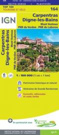 Wegenkaart - fietskaart Carpentras - Digne les Bains - Drome | IGN 164 | ISBN 9782758547730