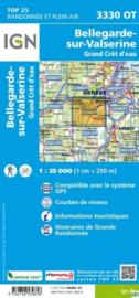 Wandelkaart Bellegarde-sur-Valserine, Grand Crêt d`Eau | IGN 3330OT - IGN 3330 OT | ISBN 9782758539858