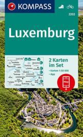 Wandelkaart - Fietskaart  Luxemburg 1:50.000 | Kompass 2202 - 2-delige set | ISBN 9783990446386