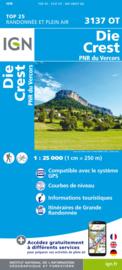 Wandelkaart Die, Crest, Saillans | Drome - Vercors |  IGN 3137OT - IGN 3137 OT | ISBN 9782758551447