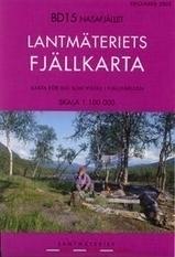 Wandelkaart Nasafjället Fjällkarta | Lantmateriet BD15 | ISBN 9789158894204