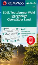 Wandelkaart Südlicher Teutoburger Wald, Eggegebirge Oberwälder Land   Kompass 844   1:50.000   ISBN 9783990449974