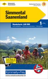 Wandelkaart Simmental - Saanenland | Kümmerly & Frey 17 | 1:60.000 | ISBN 9783259022177
