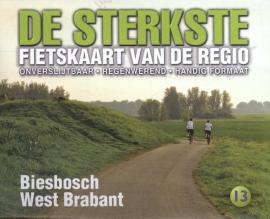 Fietskaart De sterkste fietskaart van de regio : De Biesbosch en west Brabant | Buijten & Schipperheijn | 1:50.000 | ISBN 9789058817167