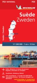 Wegenkaart Zweden | Michelin 753 Zweden | ISBN 9782067172791