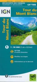 Wandelkaart Tour du Mont Blanc | IGN | 1:50.000 | ISBN 9782758540946