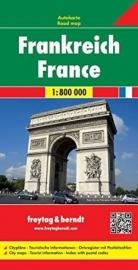 Wegenkaart  Frankrijk | Freytag & Berndt | 1:800.000 | ISBN 9783707902792