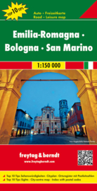 Wegenkaart - Fietskaart Emilia Romagna - Bologna - San Marino |  Freytag & Berndt | ISBN 9783707914863