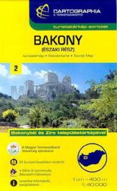 Wandelkaart Bakonywald - Noordelijk deel | Cartographia krt. 2 | 1:40.000 | ISBN 9789633531211
