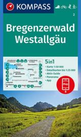 Wandelkaart Bregenzerwald - Westallgau | Kompass 2 | 1:50.000 | ISBN 9783990445662