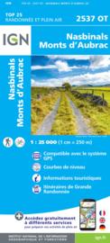 Wandelkaart Nasbinals - Monts d'Aubrac  | Auvergne |  IGN 2537OT - IGN 2537 OT | ISBN 9782758543053