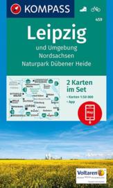 Wandelkaart Leipzig und Umgebung 2-delige set | Kompass 459 | ISBN 9783990443729