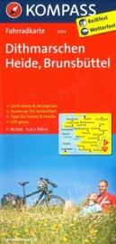 Fietskaart Ditmarschen - Heide - Brunsbüttel | Kompass 3003 | 1:70.000 | ISBN 9783850262842