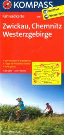 Fietskaart Zwickau, Chemnitz, Westerzgebirge | Kompass 3087 | 1:70.000 | ISBN 9783850265898